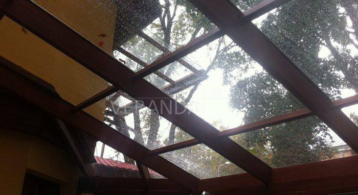 Веранда с стеклянной крышей!