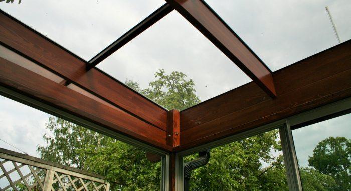 Veranda with glass roof II