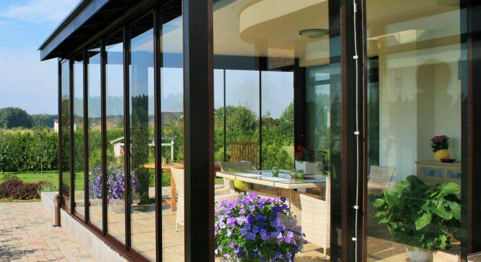 Terrace transformation into veranda