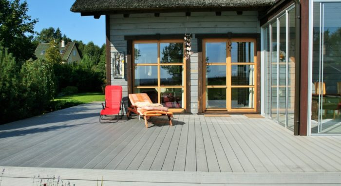 Decking and  terrace transformation for sunroom